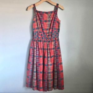Vintage One of a Kind Red Plaid Dress with Bow